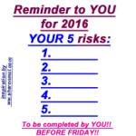 5 risks